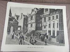 affiche ECOLE SCOLAIRE 1955/60 signée ALFRED CARLIER HISTOIRE CIVILISATION 13/22