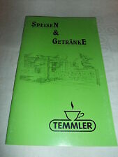 alte Speisekarte Getränkekarte Temmler Eis Café Chemnitz DM Preise um 1995