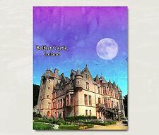 "Belfast Castle Ireland Art Travel Poster Original Design 12x18"" B4"