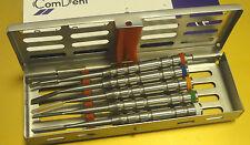 Dental Implant Split  Ochsenbein Chisel Set of 5 in Cassette Rack CE New UK