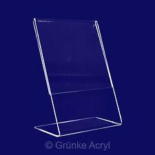L Aufsteller A4, 5x , Hochformat L-Ständer aus Acryglas Thekendisplay
