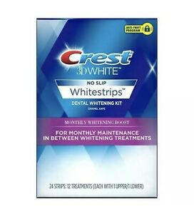 Crest 3D White Whitestrips Monthly Whitening Boost Teeth Whitening Kit Exp2/2021