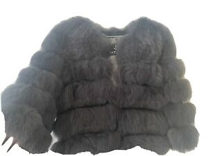 Real fox fur Grey coat