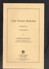 Cent musikalische Diktate Progressive drei Teile- von Weihnachten-Gallone