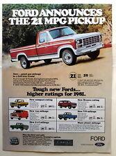 Ford Pickup F-100 F-150  Magazine Print Ad 1981