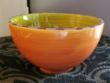 "Small Department Dept 56 Halloween Fall Colors 5.5"" Bowl Orange Green Purple"