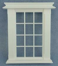 Dolls House Miniature White Plastic Georgian Window Frame 12 Pane DIY Builders