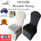 New 50 White Black Spandex Lycra Wedding Stretch Chair Covers Event Party