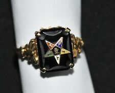Vintage 10 K Gold Ladies Order of the Eastern Star Ring - Size 5 3/4