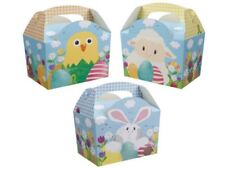 Pack of 10 Easter /Spring Bunny Chick  Boxes Food Picnic Party Easter egg Hunt