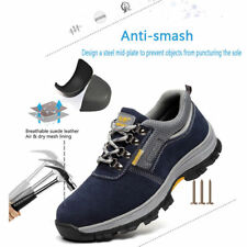 Fashion Men's Safety Shoes Steel Toe Cap Work Boots Sports Climbing Hiking Shoes