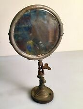 Antique Industrial Table Mirror with Turn Key Adjustable Key Steampunk Style