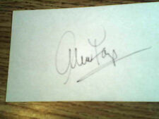 ALICE FAYE Vintage Hand signed 3x5 Index card !   With COA!