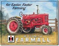Farmall Model M Tractor IH Fast Farming Equipment  Retro Vintage Metal Tin Sign