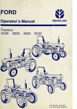 New Holland Ford Tractor Operators Manual 3430 3930 4630 5030 Digital Format
