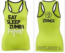 Zumba Instructor's Racerback Top Shirt Tank Hot Super RARE Fr.convention S M L Large