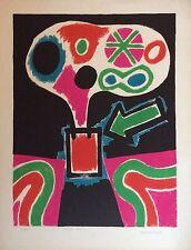 Jorge Perez Castano Lithographie 1968 Signée Art Abstrait Abstraction