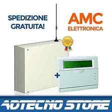 AMC ELETTRONICA -Antifurto allarme casa Kit centrale 8-24 ZONE + tastiera LCD