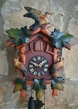 More details for a vintage schwarzwalder cuckoo clock original hand painted - lovely condition