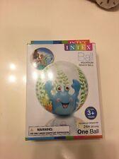Intex Inflatable Aquarium Blue 24 Inch Crab Beach Ball Kids New In Box