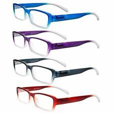 Reading Glasses 4 Pack Spring Hinge Comfort Fashion Readers Men & Women Unisex