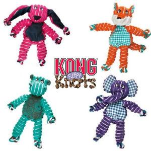 KONG Floppy Knots Dog Toy - Official Kong - Elephant, Hippo, Fox, Bunny