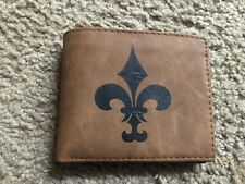 Genuine leather wallet fleur de lis—-NWT