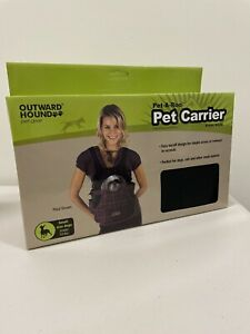 Outward Hound Pet-A-Roo Front Style Pet Carrier - Black Small FREE SHIPPING !