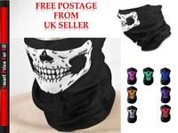Motorbike Cycling Lightweight Neck Warmer Tube Scarf Balaclava Snood SKULL PRINT