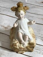 Vintage Sanmyro Japan Child Christ Ceramic Figurine