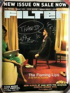 FLAMING LIPS Wayne Coyne Filter Magazine Poster HAND-SIGNED AUTOGRAPHED!