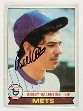 1979 Topps Bobby Valentine auto autograph JSA certified *30390