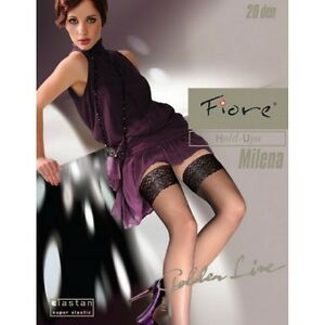 Fiore, milena, Nylon Stockings Sexy A Garters Lace Fancy Autofixante