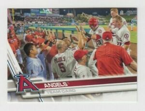 (10) LOS ANGELES ANGELS 2017 TOPPS SERIES 1 TEAM CARD LOT #189 MIKE TROUT ++