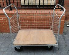 More details for 3 sided warehouse trolley distribution parcel box picking cage shelf wheeled