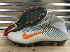 Nike Vapor Untouchable 2 Football Cleats White Teal Dolphins 835646-117 Size 15