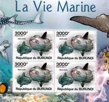 Atalo común Mola peces marinos hoja de Sellos Vida marina #5 de 5 (2011 Burundi