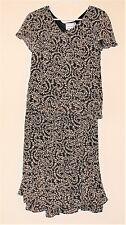 KARIN STEVENS women's brown 2 piece skirt & top outfit. Size 6. NWOT