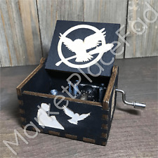 Harry Potter Handmade Carved Wooden Music Boxes Theme Song Hedwig'S Song
