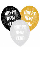 Happy New Year Party Balloons Pack 6