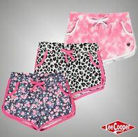 Junior Girls Designer Lee Cooper Lightweight Interlock AOP Shorts Size Age 7-13