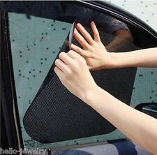 2 Auto Sonnenschutz Netz Sonnenblende Seitenfenster Klebend Schwarz 42cmx38cm HS