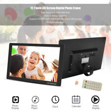 """12.1"""" 1080P Digital Photo Frame LED Picture Clock HD Video Player Remote Gift"""