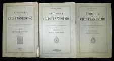 Religione. P. Schanz: Apologia del Cristianesimo, 1910  3 volumi