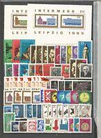 DDR 1965  postfrisch  komplett mit ZD und Einzelmarken