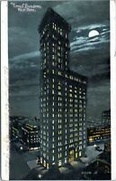 1906 Times Building at Night NYC New York City Undivided Postcard BA