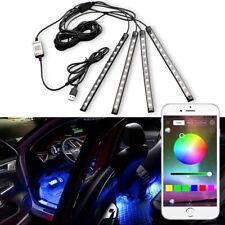 4x Rgb Led Under Car Tube Strip Underbody Glow Neon Light Kit Phone Control Usb (Fits: Neon)