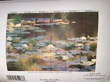 Brewster 'Leaving the Lillies' 259-72068 6 Panel Mural with Paste, 6' H X 9' L