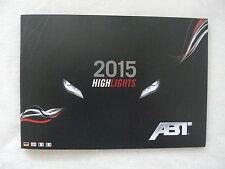 ABT VW Audi Highlights 2015 - Prospekt Brochure