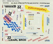 AUDI A/4 N°22 OMG RACING SUPER TOURENWAGEN 1999 DECALS 1/43